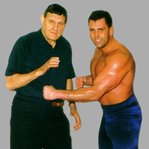 Hall of Famer Killer Kowalski with Coach Mike Hollow